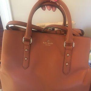 Like new Kate Spade leather tan purse